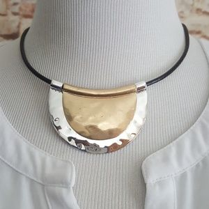 New Robert Lee Morris Soho Leather Cord Necklace